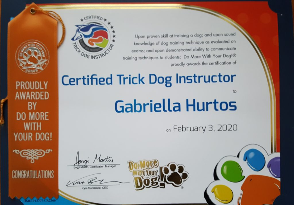EU Trick Dog Spark Team Certified Trick Dog Instructor Certifikovaná Inštruktorka Trikového Psa Certifikovaná Instruktorka Trikového Psa