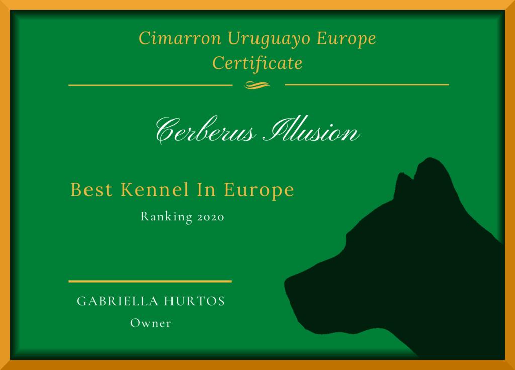Best Cimarron Uruguayo Kennel In Europe 2020